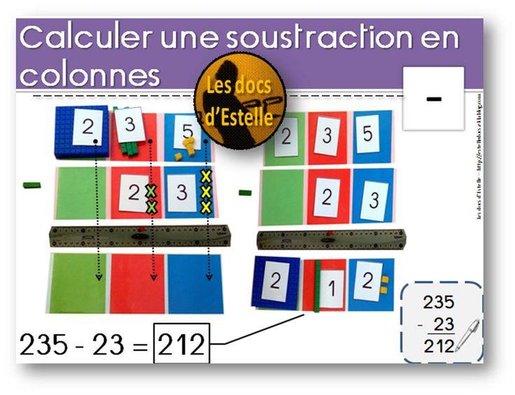 Les 87 meilleures images du tableau maths cp sur pinterest for Poser une soustraction