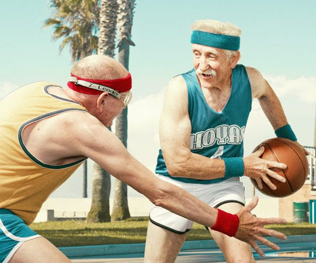 Old People Playing Basketball Photography_3
