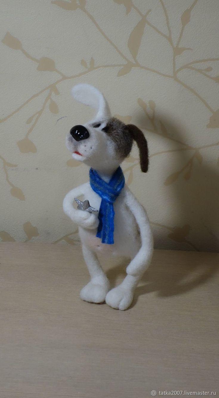 """Купить Символ года собака """" Звезда упала"""" валяная игрушка в интернет магазине на Ярмарке Мастеров"""