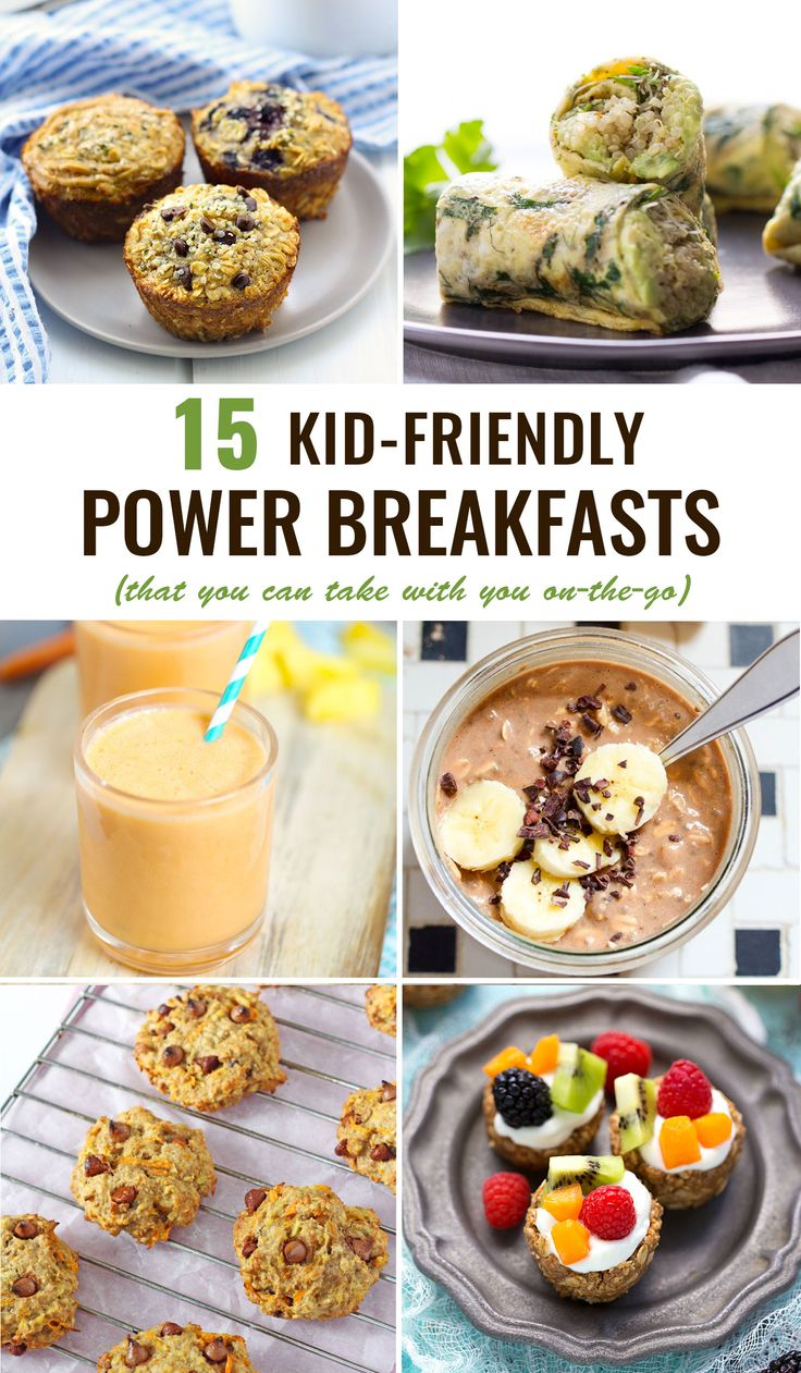 The 15 BEST power breakfasts for kids -- healthy, delicious and the best part is they're PORTABLE! http://www.superhealthykids.com/kid-friendly-power-breakfasts-go/