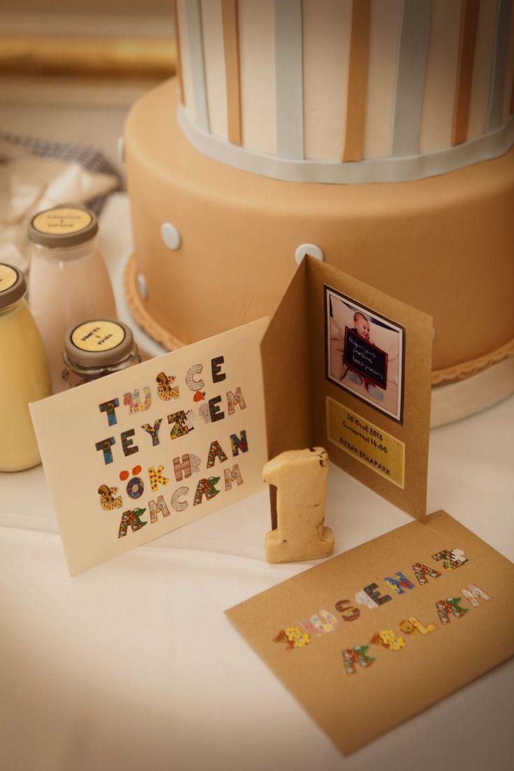 Tolga'nın doğum günü davetiyeleri:)