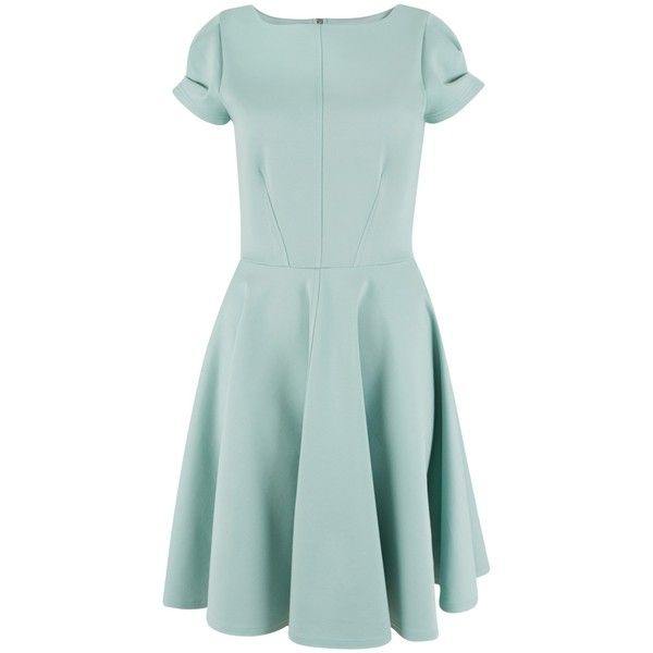 Closet Cap Sleeve Skater Dress, Mint ($68) ❤ liked on Polyvore featuring dresses, mint green dress, tight maxi dress, green skater skirt, cap sleeve maxi dress and flared midi skirt
