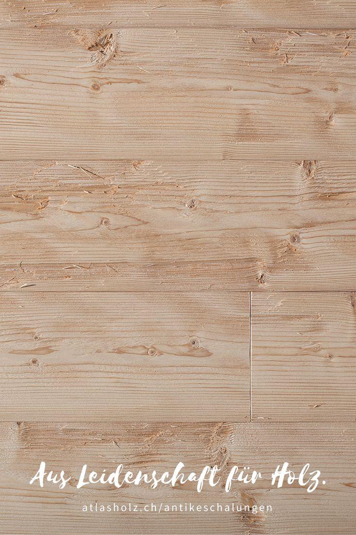 Antike Schalungen Zugspitze, nordische Fichte, gedämpft, gehackt und gebürstet / Wall Panels Zugspitze, nordic Spruce, steamed, hewn and brushed
