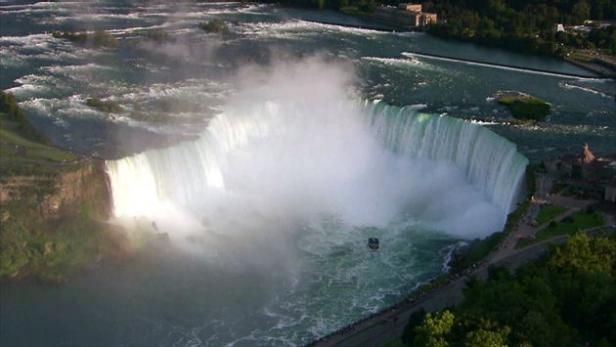 Niagara Falls is the world's second-largest and most famous waterfall.