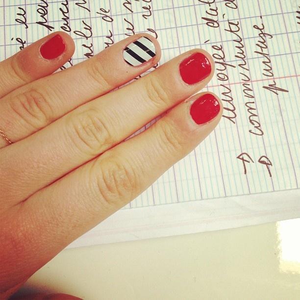 Manucure accent nail !