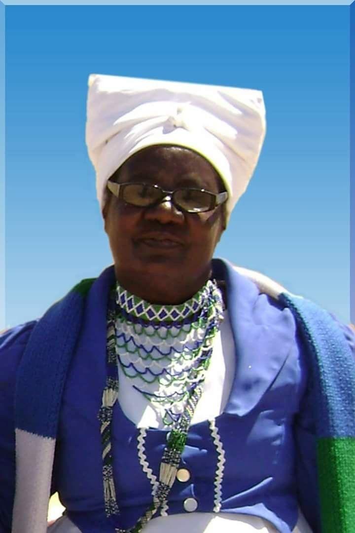 A Damara Woman In Damara Traditional Wear And Colours