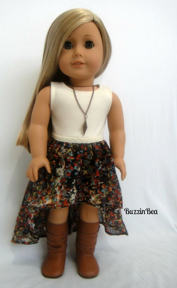 High Low Dress with floral chiffon skirt, by BuzzinBea on Etsy    $25.00-would love to sew this!