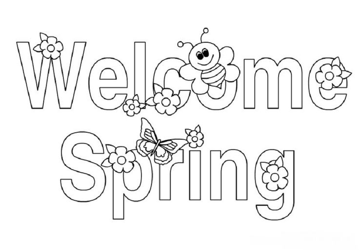 spring coloring pages detailed words - photo#43