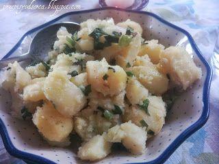 Mustard & chive crushed new potatoes / Młode ziemniaki z musztardą i szczypiorem