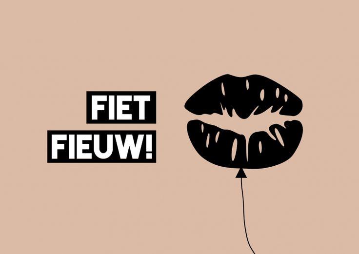 Kaartje Fietfieuw! Je shopt 'm hier: http://www.bybean.nl/kaartjefietfieuw