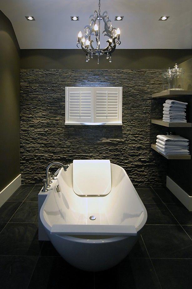 vrijstaand bad in exclusieve #badkamer