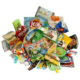 Collect those juice boxes, candy wrappers, chip bags and send them to Terracycle and see the cool stuff they create!