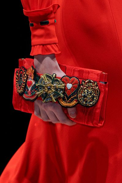 A touch of color and whimsy with a classic dress or suit.   Moschino Fall 2013-love the clutch