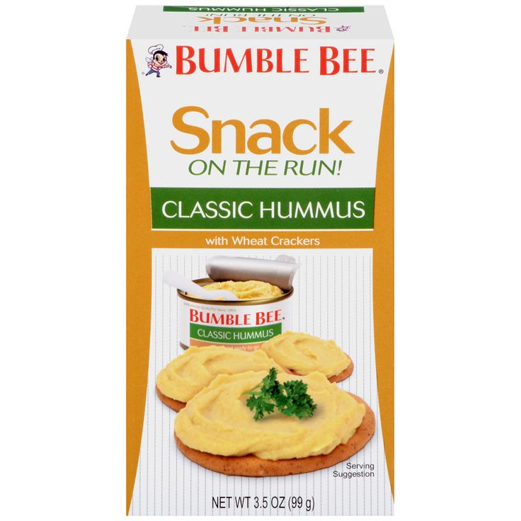 Bumble Bee Tuna and Seafood Products - BUMBLE BEE® Snack on the Run! Classic Hummus with Wheat Crackers Kit