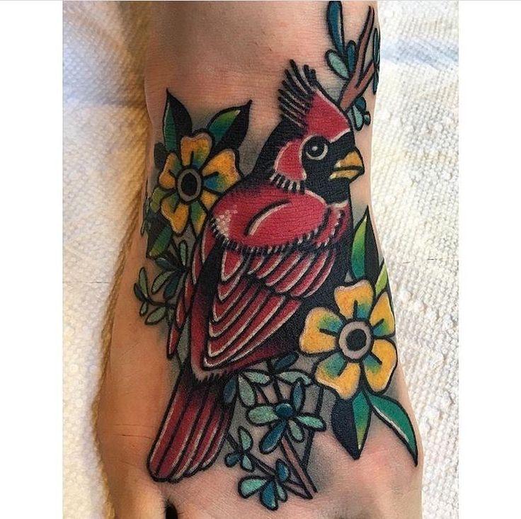 #tattoo by Ryan McDonald @ryanxmcd  @kustomthrills in Nashville TN Booking Inquiries:  615-226-3009  #traditionaltattoo #nashville #straightedge #eastnashville #kustomthrills #cardinal #bright_and_bold #best_traditional_tattoos #colortattoo #instagood #instadaily #tattoos #tattoooftheday #tatuador #supportgoodtattooers #tattoosofinstagram #bestoftheday #tattoocloud #tattooartistmagazine