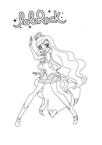 Aikatsu Lolirock Line Art Princess Coloring Pages Coloring Pages Line Art