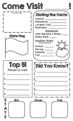 State Report -- Create a State Poster from Miss Cherritt's Shop on TeachersNotebook.com -  (1 page)  - State Report Poster