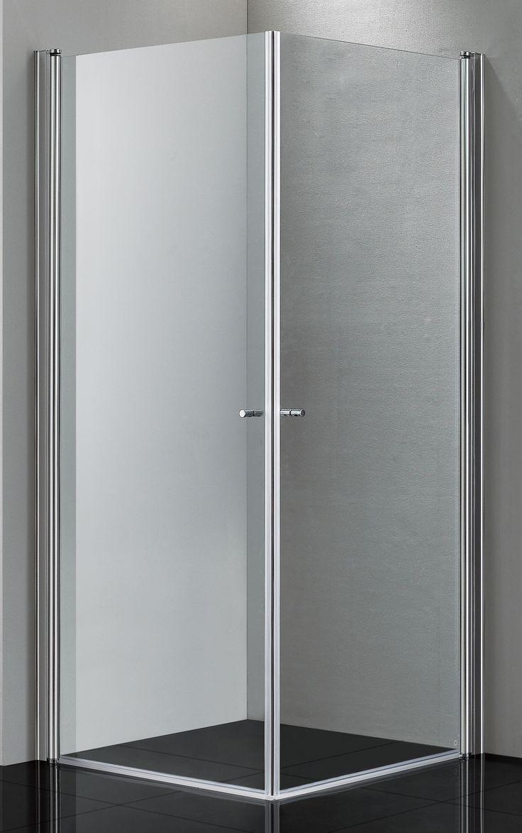 Lusso duschdörr rak med klart glas | Alterna badrum | Dusch och ...