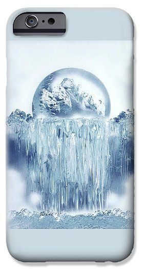 Printed with Fine Art spray painting image Ice Waterfall by Nandor Molnar (When you visit the Shop, change the orientation, background color and image size as you wish)