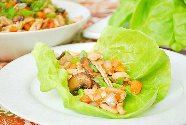 Asian Chicken Lettuce Wraps ~ Been wanting a recipe for these!