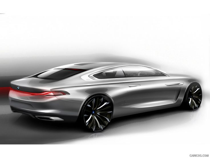 BMW Pininfarina Gran Lusso coupe design sketch