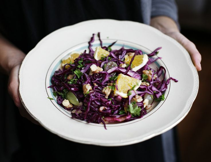 """Red_Cabbage_Salad.  I'm a cabbage fan, so this looks really likely!  (Any one know what a Swedish cook means by """"a pot"""" of parsley?)"""