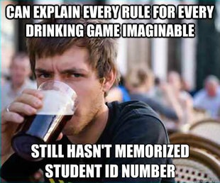 Lazy College Senior meme. These memes are so popular and funny because