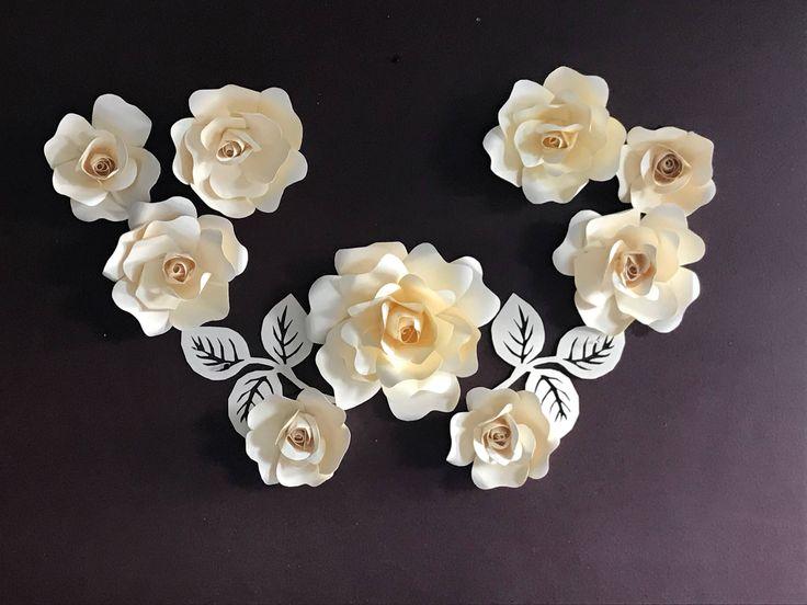 Paper Roses anyone? Order this set in your favourites colours at KomalWorks.etsy.com. We ship worldwide. http://etsy.me/2Ejndaa #paperroses #paerflowers #paperblossoms #blossom #roses #creamroses #flowers #flowerstagram #eventdecor #nurserydecor #partydecor #birthdayflowers #weddingflowers #stagedecor #girlsroomdecor #etsy #etsyflowers #etsysuccess #cricut #komalworks