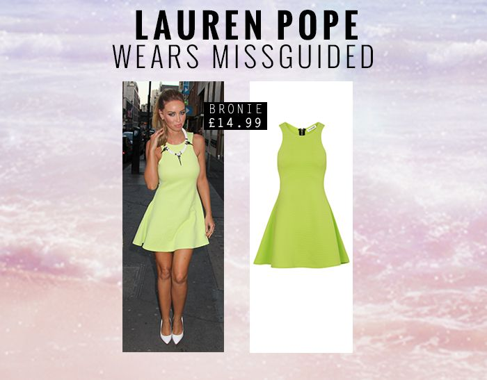 Beaut Lauren Pope wearing our Bronie Dress x  http://www.missguided.co.uk/catalogsearch/result/?q=bronie  #Fashion #Style #TOWIE #LaurenPope #Celeb #CelebStyle #Missguided