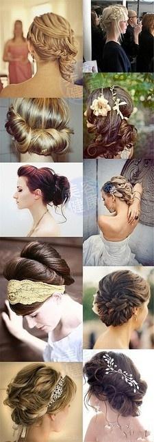 Wedding hair, twist, braid, updo