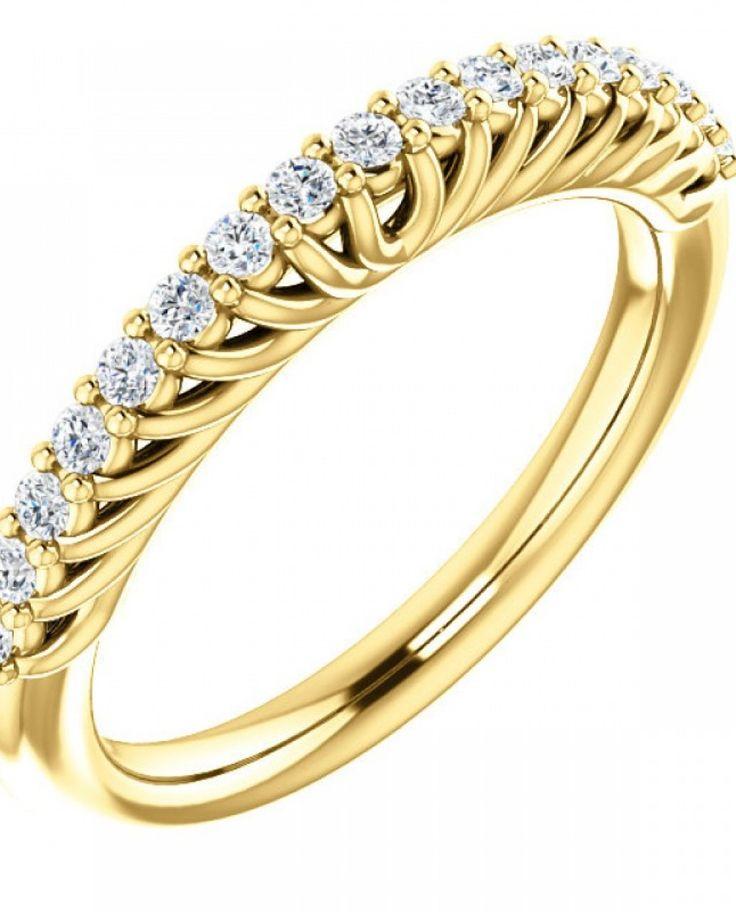 Inel din aur galben cu montura de diamante