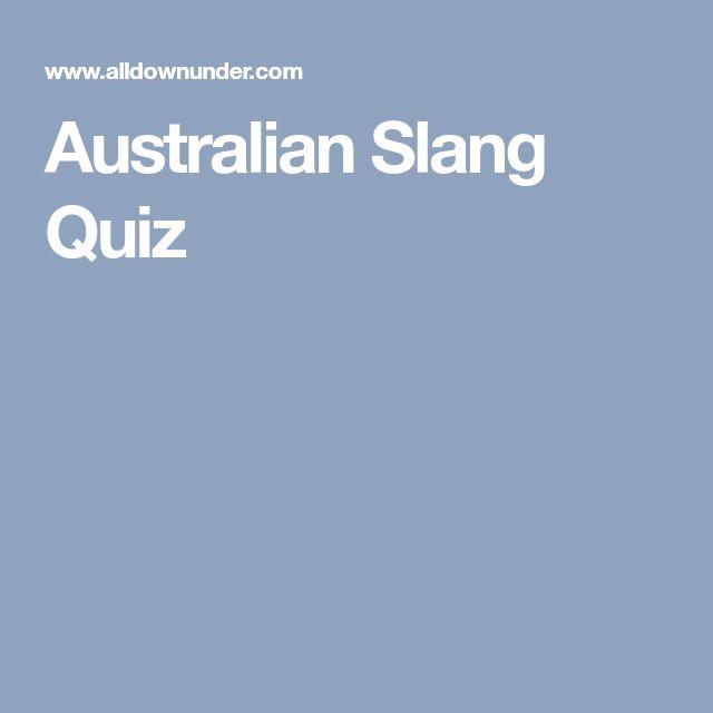 Australian Slang Quiz