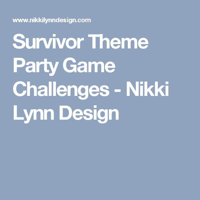Survivor Theme Party Game Challenges - Nikki Lynn Design