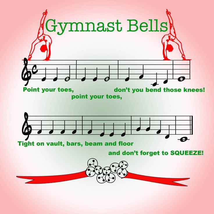 Gymnast bells - a Christmas song for our gymnasts - just change beam to rings for the boys