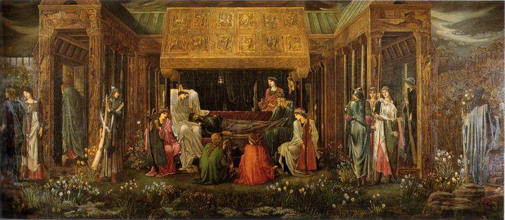El último sueño de Arturo en Avalón - Edward Burne-Jones.