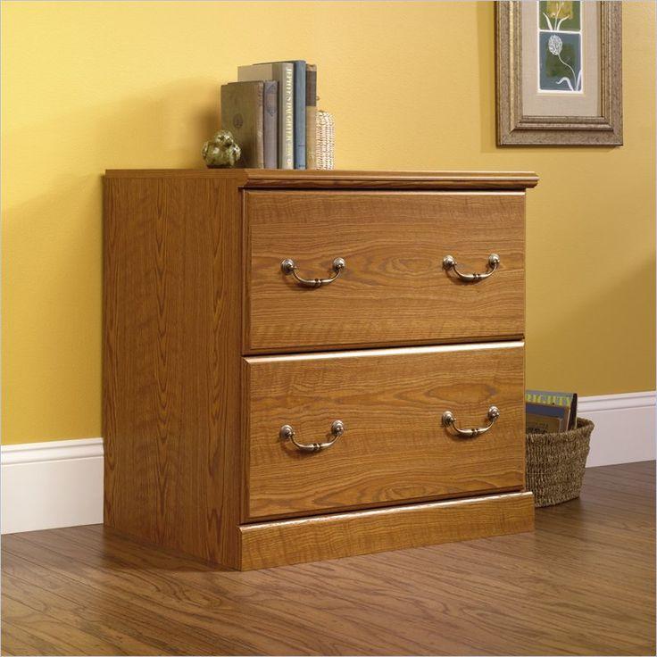 2 drawer file cabinet in oak