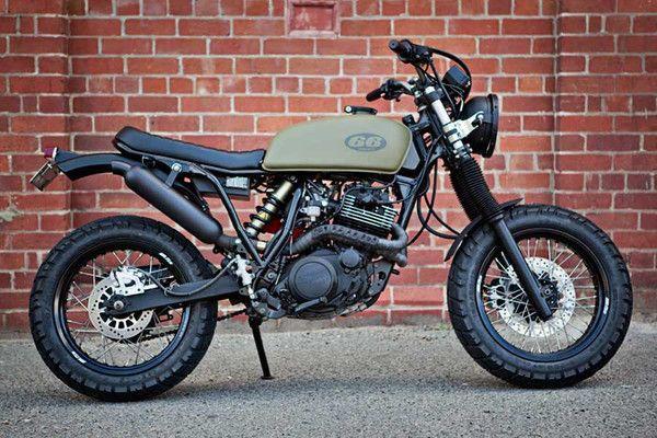 XT 600 Street Tracker - 66 Motorcycles - Custom 66 Streetracker  Cafe Racer