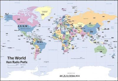 Amateur Radio World: International Amateur Radio Prefixes #hamradio