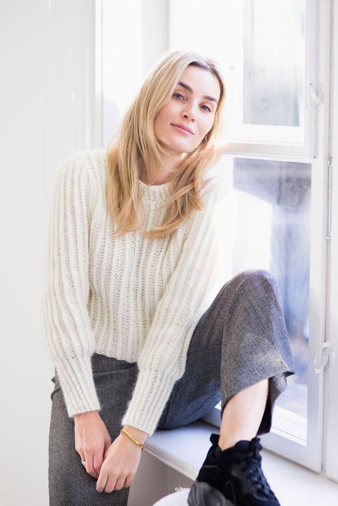 Meja knitted sweater, Strikket genser Trendige strikkede