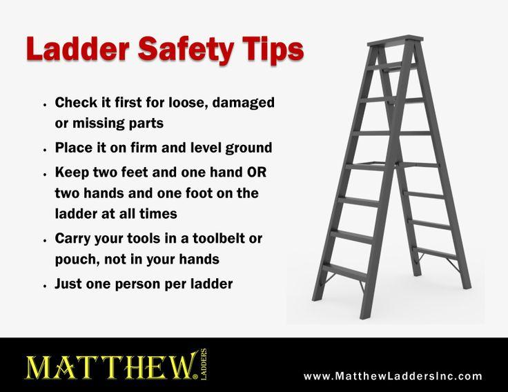 Ladder safety tips car interior design for Ladder safety tips