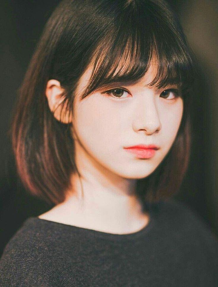 Korean Heroine Bobbed Hair With Bangs Ya Girl Dark Haired