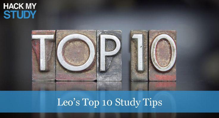 Leo's top 10 study tips #studytips #top10 #studyhacks