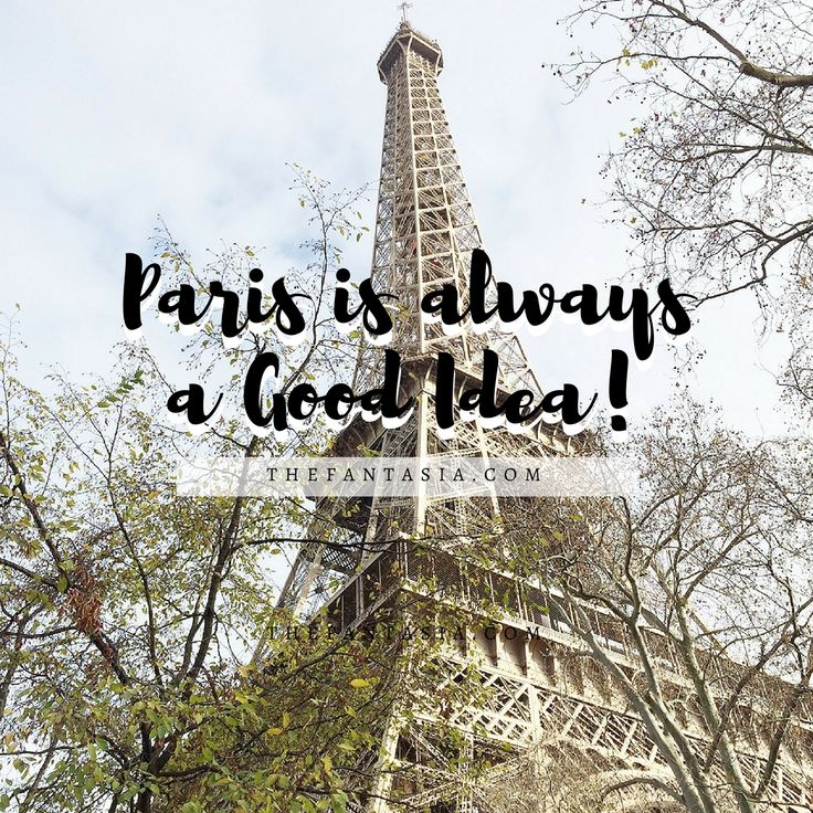 Paris is Always a Good Idea! Thinking about that getaway or last minute trip to Paris? Let this visual guide be your inspiration!!