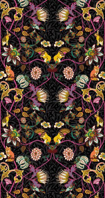 by Sarah Devey, surface and pattern illustrator and textile design. ~via sarahdeveydesign: animal