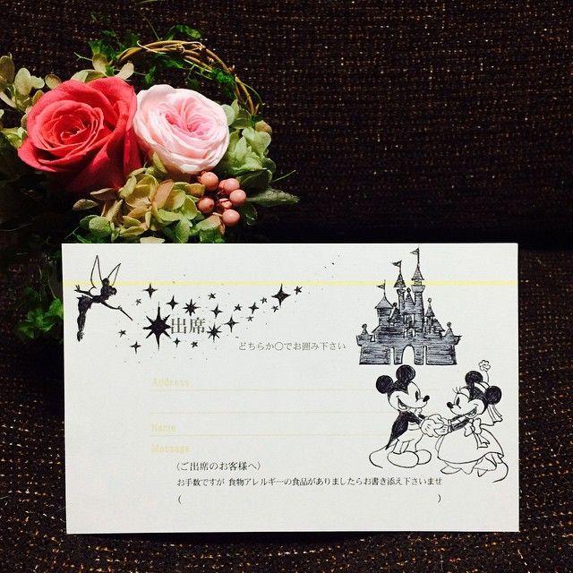 貰ってうれしい!可愛すぎるディズニーデザインの招待状返信アートにびっくり♡ | marry[マリー]