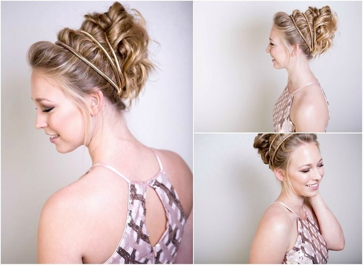 festliche hochsteckfrisuren silvester haarschmuck elegant #instruction #hairstyle #hair