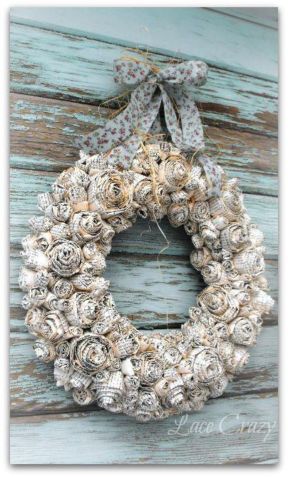 DIY Paper Rosette Wreath Tutorial