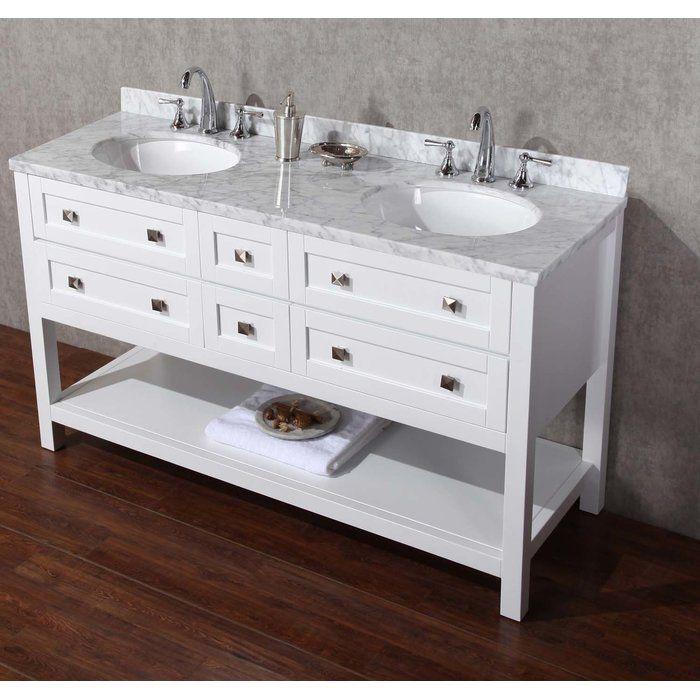 immingham 60 double bathroom vanity set double sink on ikea bathroom vanities id=11438