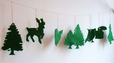Green Felt Garland Forest Friends Baby Nursery Wall Decorations Deer Created by atelierpompadour Etsy: This cute garland holds as many forest baby nursery theme ideas as a nature walk in the woods!  In fact that is exactly what the designer of this garland