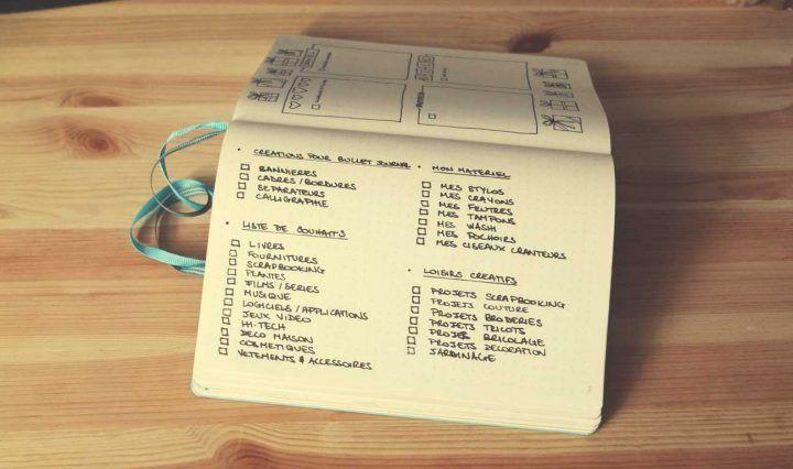 Idées et inspirations de listes et collections pour le bullet journal